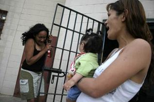 baby and mom in prison