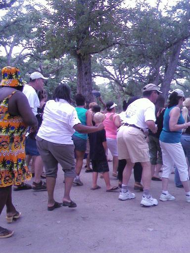 At the lacombe crab fest a combination of cupid shuffle insanity and