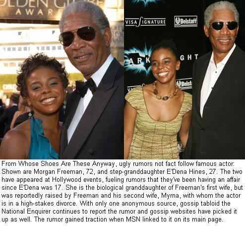 "morgan freeman granddaughter gossip. There's a showbiz saying that ""there's"