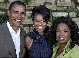 Oprah and Obama plus Michelle-Oom